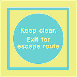 keep clear exit for escape route