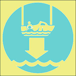lower rescue boat symbol