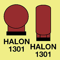 halon bottles in protected area