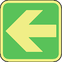 safety arrow left