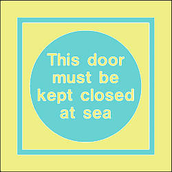 this door must be kept closed at sea text