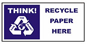 Large recycle bin sticker - Paper