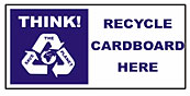 Large recycle bin sticker - Cardboard