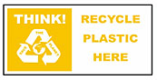Large recycle bin sticker - Plastic