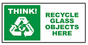 Large recycle bin sticker - Glass