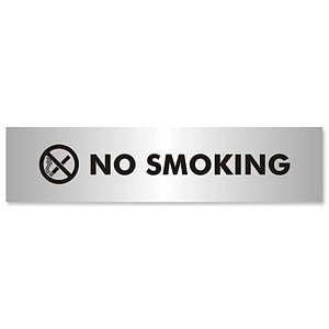 No Smoking Sign Aluminium Effect Acrylic