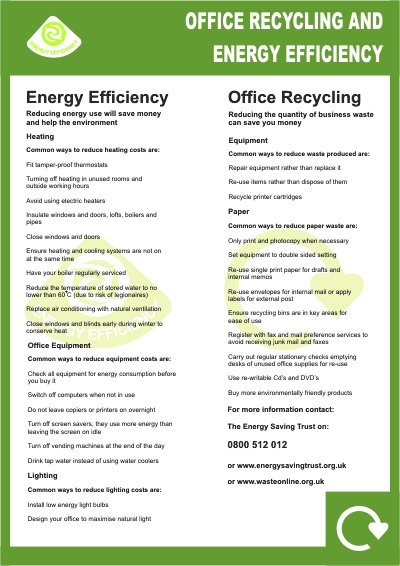 Office Recycling Efficiency Poster