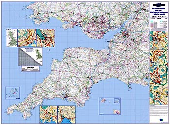Regional Road Map 7 - South West England & South Wales
