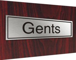Stainless plaque gents