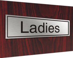 Stainless plaque ladies