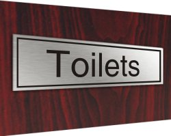 Stainless plaque toilets