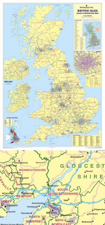 British Isles Sales & Marketing Map