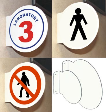Circular Projecting Sign
