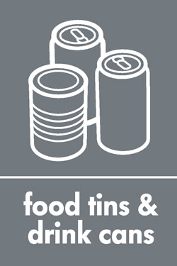 Food tins and drink cans
