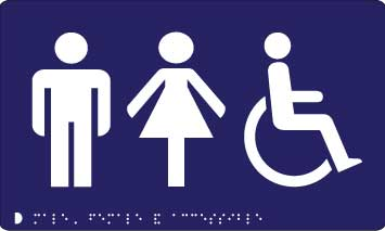 Male and Female and Accessible Toilet