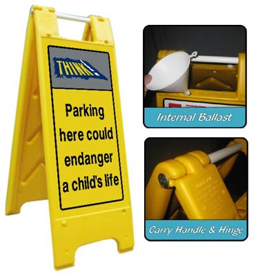 Heavy Duty Large A-Board No Parking 1