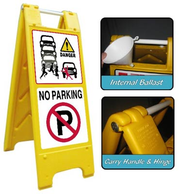 Heavy Duty Large A-Board No Parking 2