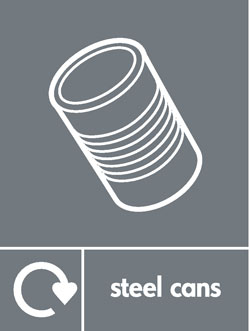Steel cans recycle