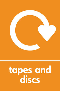 Tapes and discs recycle