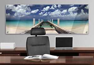 Beach Scene - Office Art on Acrylic