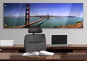 Golden Gate Bridge - Office Art on Acrylic