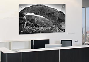 Black and White Mesa Arch - Office Art on Acrylic