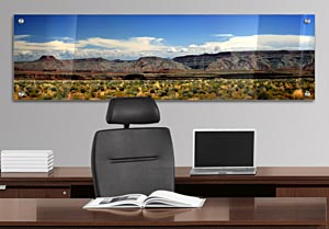 Utah Mountains - Office Art on Acrylic
