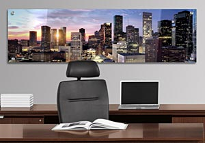 Houston TX Skyline - Office Art on Acrylic