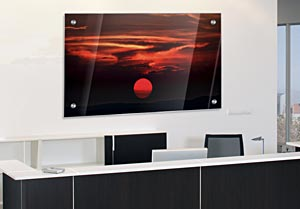 Red Sunset - Office Art on Acrylic