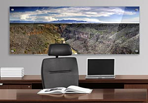 Rio Grand Gorge - Office Art on Acrylic