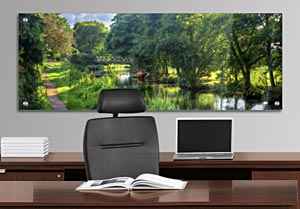 River Wey, Guildford - Office Art on Acrylic