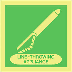line throwing appliance Marine IMO Sign