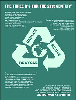 recycle reuse reduce  rmation poster env07